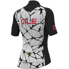 Alé Cycling Solid Cracle Short Sleeve Jersey Women white-black-gerbera